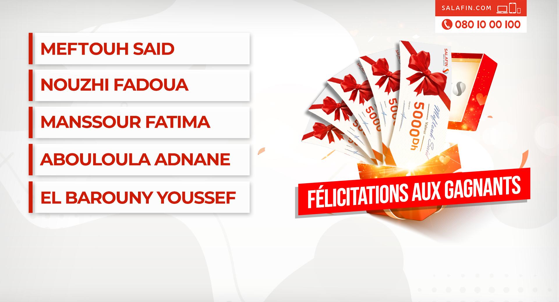 Félicitations aux gagnants de la Tombola